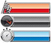Racing banners — Stock Photo