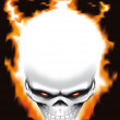 Evil skull on fire — Stock Photo