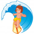 Kid surfer — Stockfoto #6489218