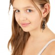 Portrait of funky young girl isolated over white background — Stock Photo #6082200