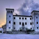 Castle Dobrovo at dusk — Stock Photo #6232417