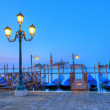 Gondolas in Venice — Stock Photo #6233476