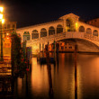 Rialto bridge in Venice Italy - Stock Photo