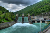 Electricity plant - Hydro electric power plant - powerplant — Stock Photo