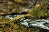 Underground river curve — Stock Photo