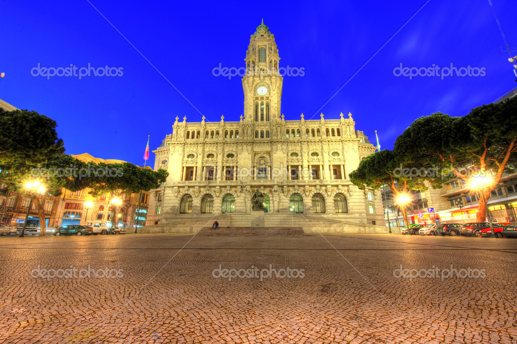 City hall of Porto, Portugal — Stock Photo #6232042