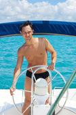 Kaptenen på båten — Stockfoto
