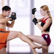 Fight of young couple — Stock Photo #6128992