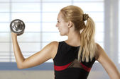 Young adult woman workout — Stock Photo
