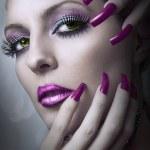 Fashion beauty make up. — Stock Photo #6474078