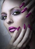 Fashion beauty make up. — Stock Photo