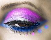 Close-up of beautiful womanish eye — Stock Photo