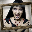 Halloween. Fashion portrait of night vampire - Stock Photo