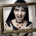 Halloween. Fashion portrait of night vampire — Stock Photo #6574232