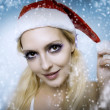 Woman model. Christmas bright make-up — Stock Photo