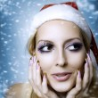 Woman model. Christmas bright make-up — Stock Photo #6647491