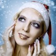 Stock Photo: Woman model. Christmas bright make-up