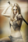 Fantasy portret seksowny fighter — Zdjęcie stockowe