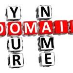 3D Domain Your Name Crossword — Stock Photo