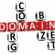 Stock Photo: 3D Domain Org Com Biz Net Crossword