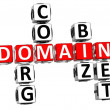 3D Domain Org Com Biz Net Crossword — Stock Photo
