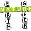 3D Nature Earth Green Crossword — Stock Photo