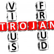 Virus Trojan Fraud Crossword — Stock Photo