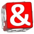 3D Ampersand mark — Stock Photo