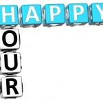 3D happy hour křížovky — Stock fotografie