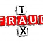3D Fraud Tax Crossword — Stock Photo