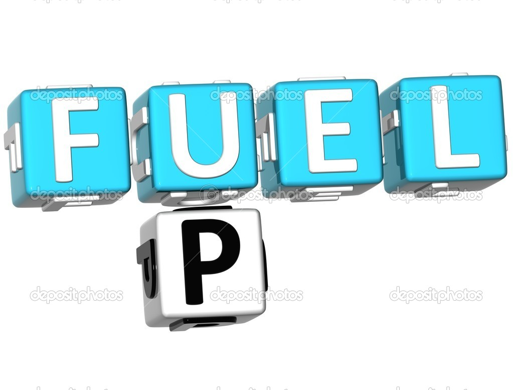 3D Fuel Up Crossword on white background — Stock Photo #5897504