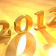 Beautiful golden color new year design art — Stock Photo