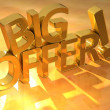 3D Big Offer Text — Stock Photo