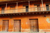 Spanish colonial home. Cartagena de Indias, Colombia. — Stock Photo