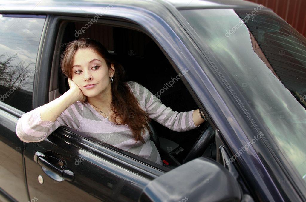 beautiful girl in car - photo #9