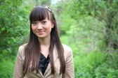 A portrait of a beautiful asian woman outdoor — Stock Photo