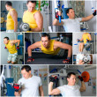 Man training in fitness center - Stock Photo