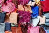 Carpet patchwork fabric — Stock Photo