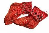 Spoiled children knitted socks — Stock Photo