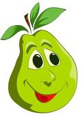 Green pear — Stock Vector