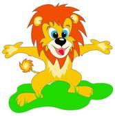 Happy lion — Stock Vector