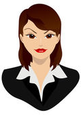 Woman (business woman) — Stock Vector