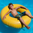 Stock Photo: Boy in water area.