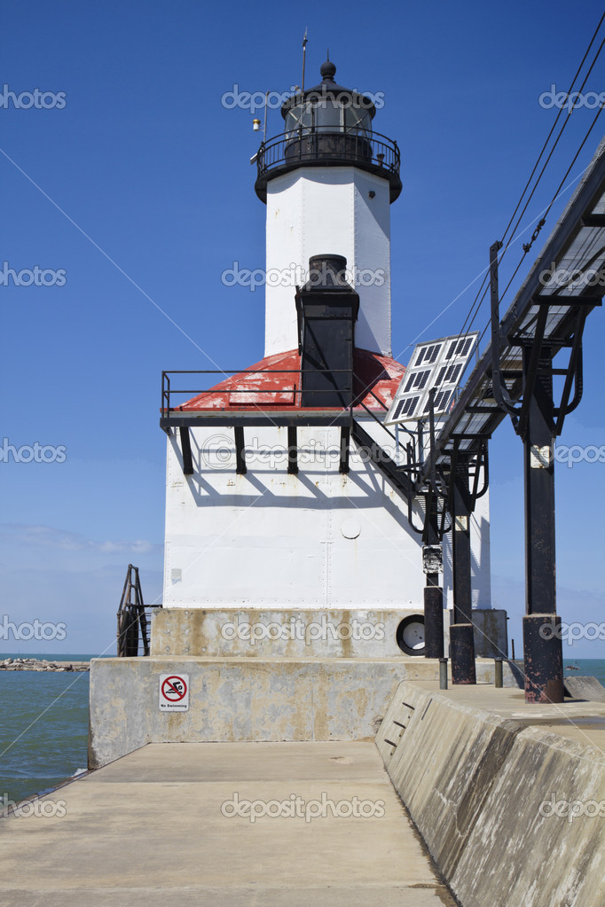 Michigan City Lighthouse. Indiana, USA. — Stock Photo #5440950