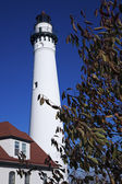 Wind Point Lighthouse — Stock Photo