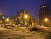 Snow storm in South Bend — Stock Photo