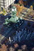 Aerial view of the tram station — Stock Photo