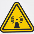 Wireless radiation sign — Stok Fotoğraf #5783296