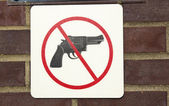 No guns permitted — Stock Photo