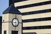 Clock Tower next to the hospital — Stock Photo